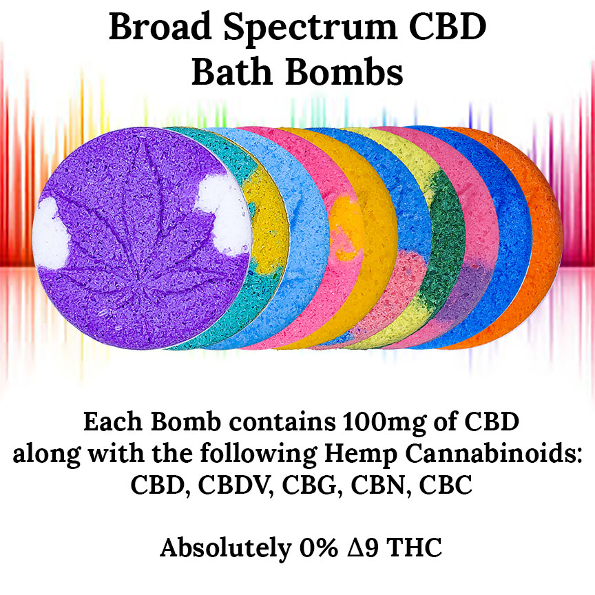 100mg Broad Spectrum CBD Bath Bomb