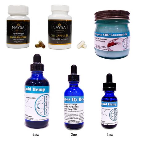 CBD Oil in every available form from capsules to droppers.